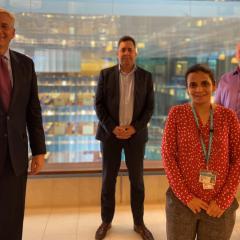 Gastroenterologist Professor Gerald Holtmann, neurologist Dr Marcus Gray, gastroenterologist Dr Ayesha Shah and mircobiologist Professor Mark Morrison